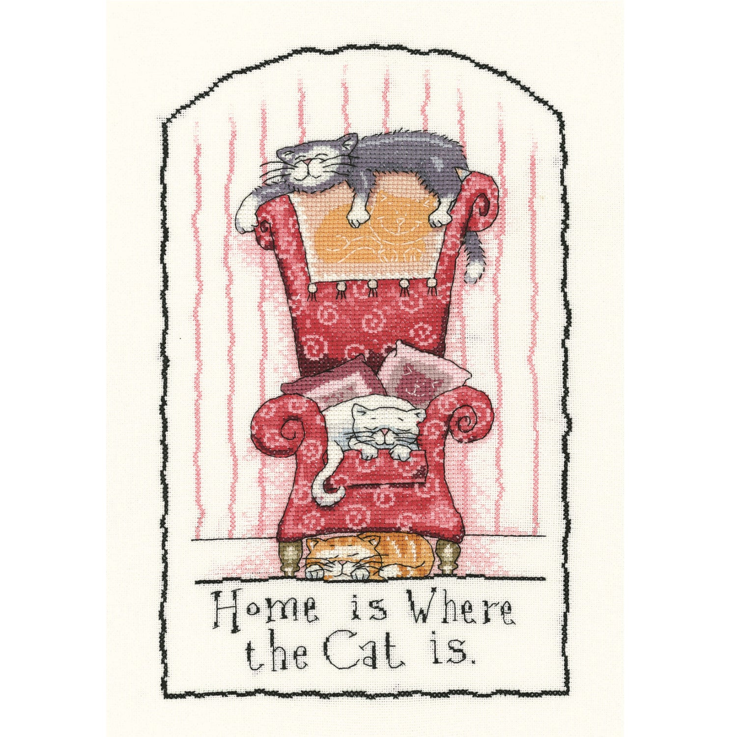 Home Is Where The Cat Is<br />Counted Cross Stitch Kit