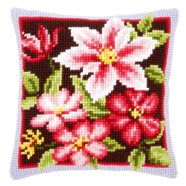Autumn Flowers <br />Cross Stitch Cushion Kit