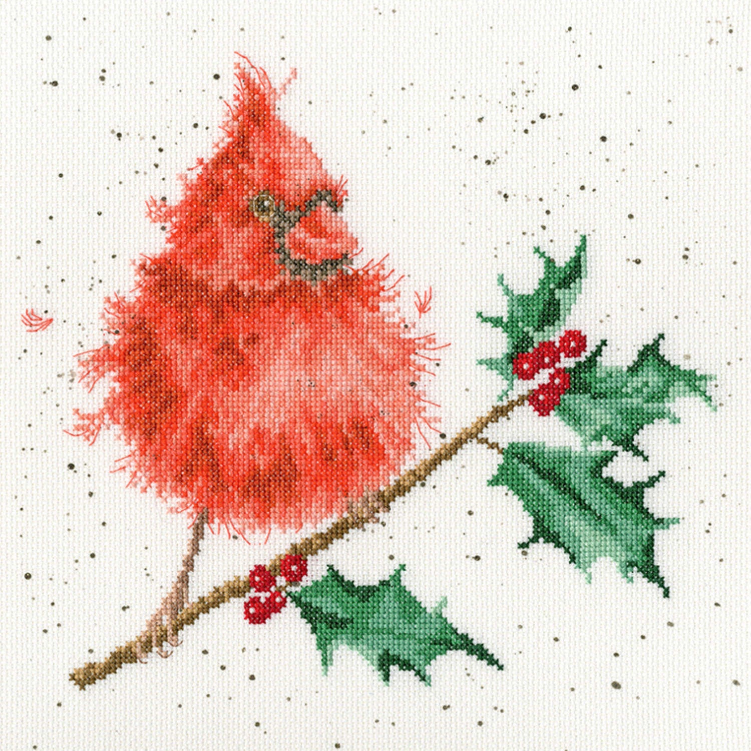Festive Feathers <br />Counted Cross-Stitch Kit