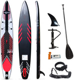 HIKS Racing SUP Stand UP Paddle Boards Double Skinned Inflatable 12ft6