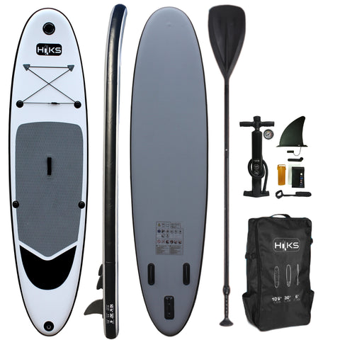 ****PRE-ORDER NOW FOR DELIVERY 3rd WEEK OF MAY****HIKS 10.6ft / 3.2M BATTLESHIP Grey Stand Up Paddle ( SUP ) Board Set