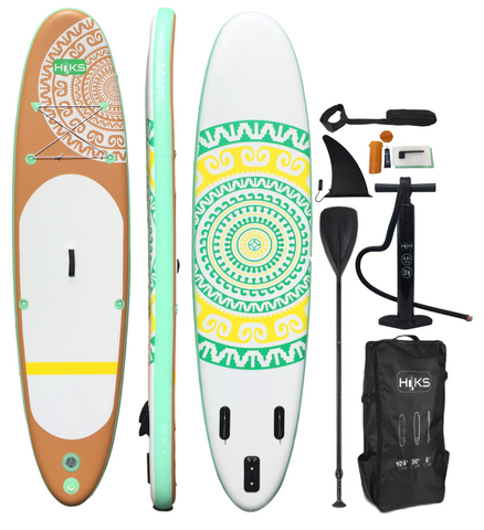 HIKS 10.6ft / 3.2M MAORI HAWAII Stand Up Paddle ( SUP ) Board Set - HIKS