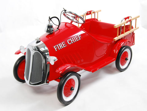 Metal Fire Engine Pedal Car - HIKS