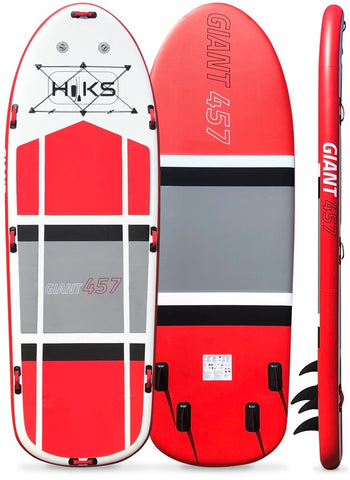 HIKS Giant SUP 15ft / 4.57m 6 Person Large Mega Stand Up Inflatable Paddleboard