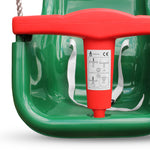 Baby - Toddler Garden High Back Swing Seat with T bar - Green/Red