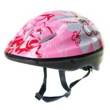 Kids Girls Pink Helmet & Knee / Elbow Pad Combo Set - HIKS