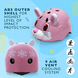 Pink Cat / Rabbit Kids Childrens Bike Helmet - HIKS