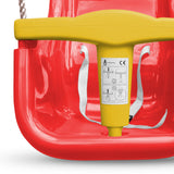 Baby - Toddler Garden High Back Swing Seat with T bar - Red/Yellow