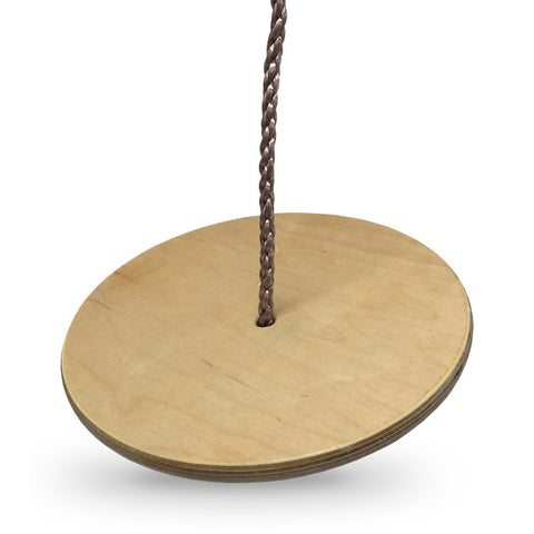 Kids Button Disc Monkey Round Rope Swing Seat - Wooden - HIKS