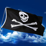 HIKS® Jolly Roger Skull and Crossbones 5ft x 3ft Pirate Flag - HIKS