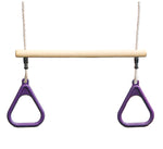 HIKS Kids Trapeze bar with Gym rings available in 5 Colours - HIKS