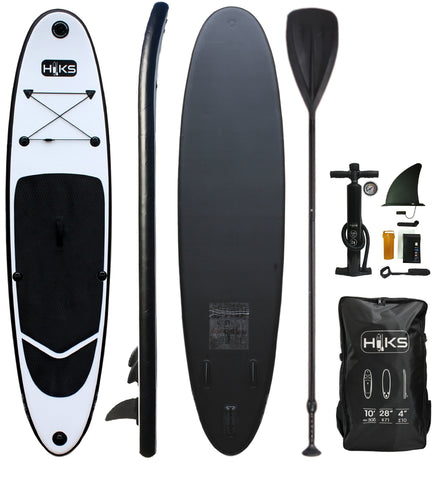 HIKS 10ft / 3.05M MIDNIGHT Black Stand Up Paddle ( SUP ) Board Set - HIKS