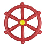 Toy Climbing Frame Accessories Bundle - Pirate Steering Wheel, Telescope & Handles - Red