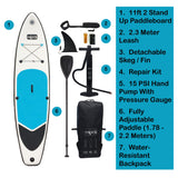 HIKS DOUBLE SKIN TOURING 11'2 Stand Up Paddle ( SUP ) Board Set - HIKS