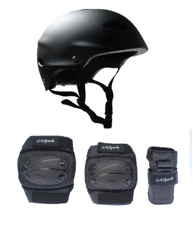 LA Sports Skate Helmet & 6 Piece Pad Set - Junior