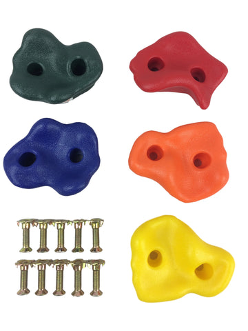 HIKS  Multi-Coloured Plastic Climbing Stones Holds & Grips - HIKS