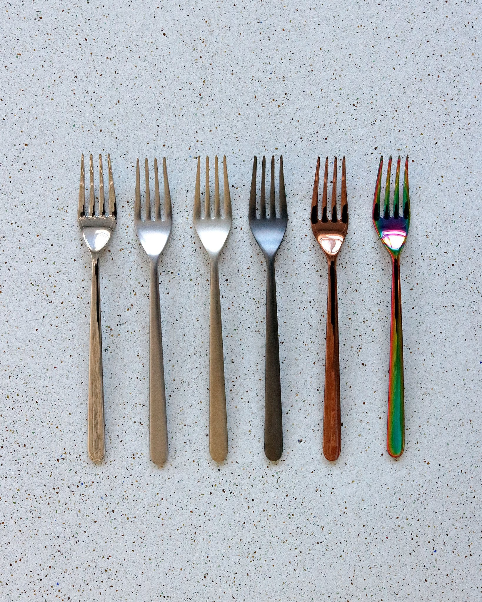 Linear Flatware in Matte Graphite