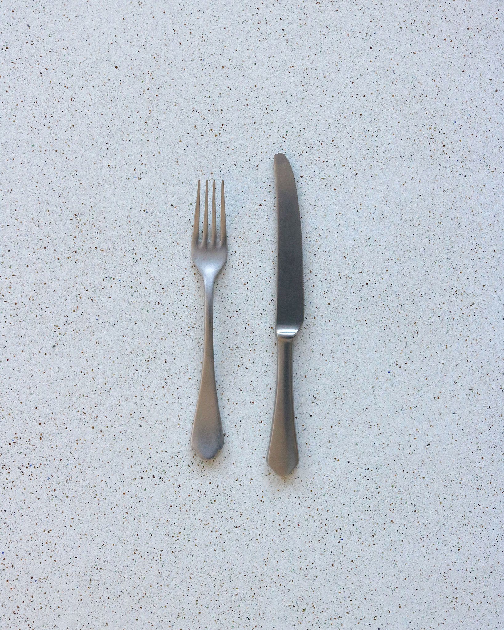 Scalloped Flatware in Matte Stainless