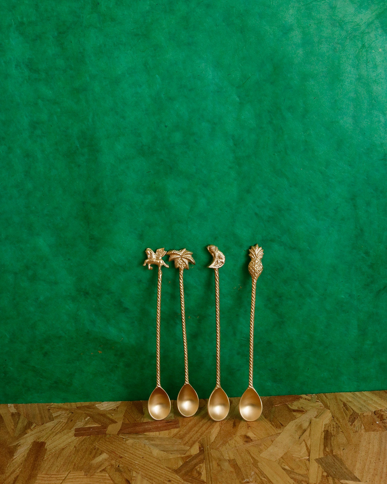 Majestic Long Spoons in Brass