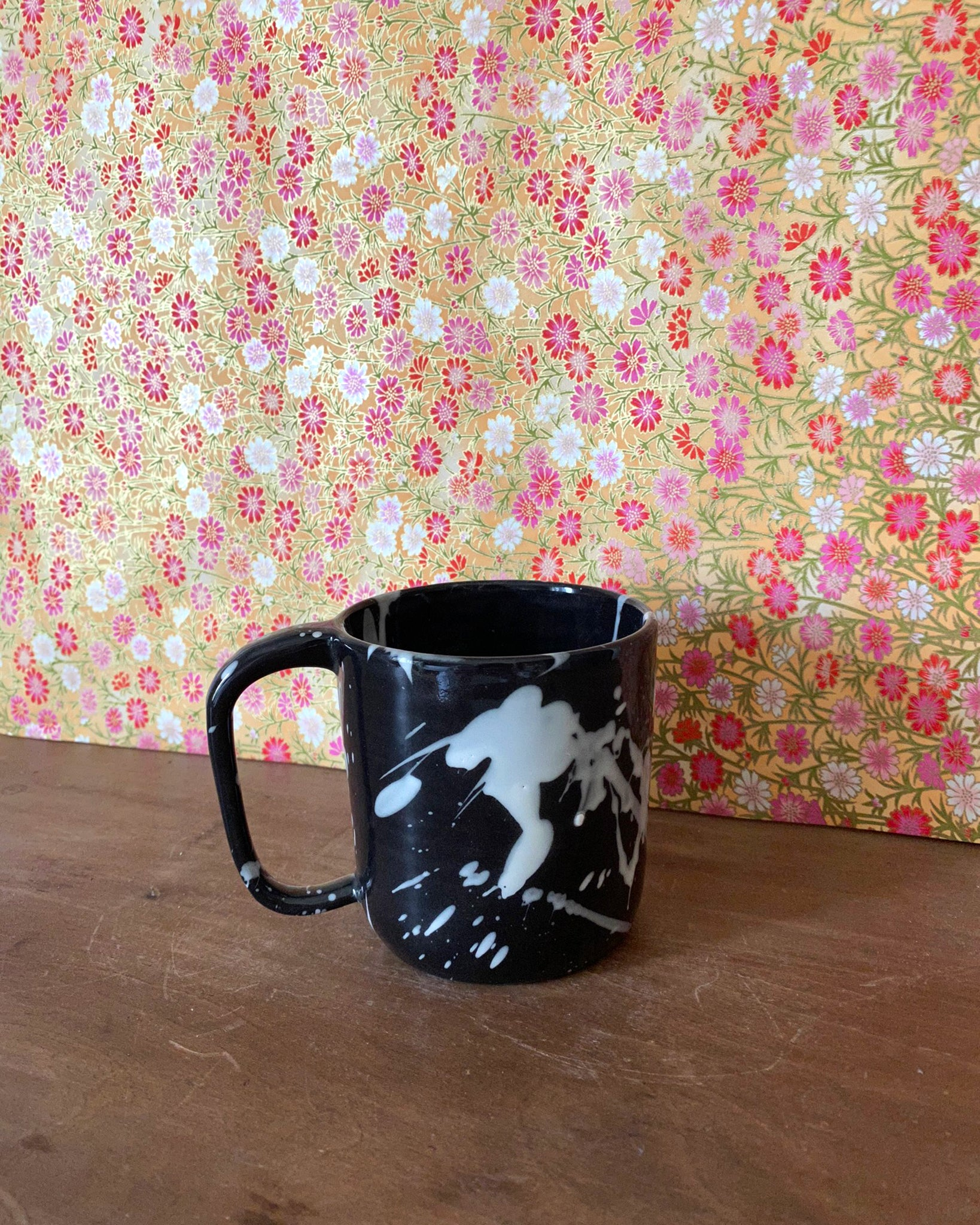 Black Splatter Mug