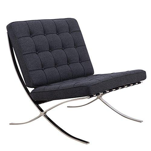 LeisureMod Bellefonte Modern Pavilion Chair (Dark Grey)
