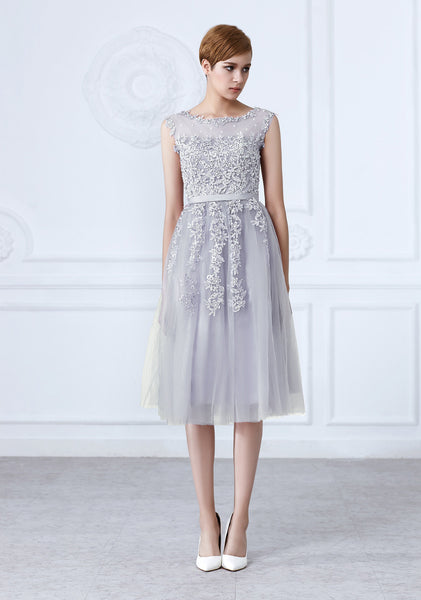 Tulle Lace Appliques Short Cocktail Dress