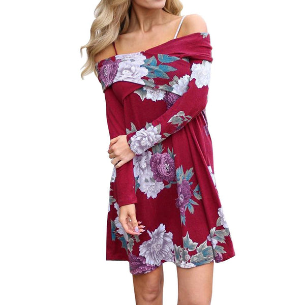 Spring Floral Casual Dress