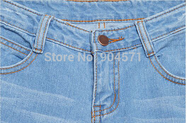 Washed Vintage Big Hole Ripped Long Denim Jeans