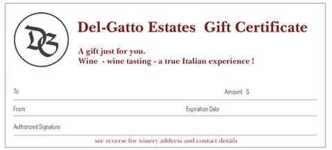 Del-Gatto Estates gift card
