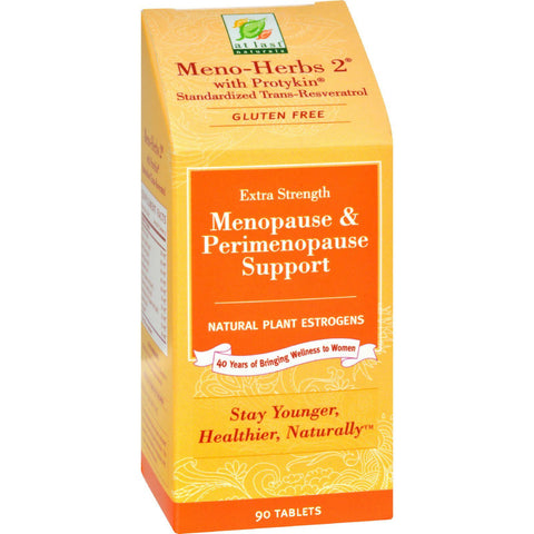 At Last Naturals Meno-herbs 2 With Protykin - 90 Tablets