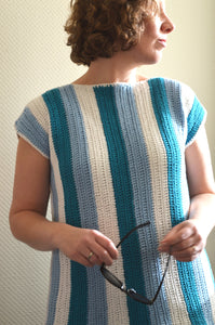 Wide Horizon Boatneck Tee (Crochet)