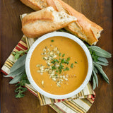 Spicy Squash Soup With Crusty Bread