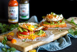 "Sweet potato ""Toast"" stacks"