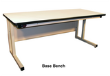 "Cantilever Base Workbench with 1"" Black Epoxy Resin Surface"