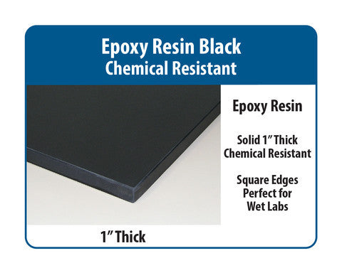 "Basic Lab Bench | 1"" Black Epoxy Resin"
