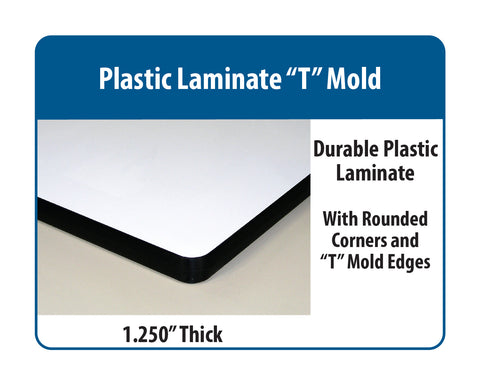 "Cantilever Base Workstation with Plastic Laminate ""T"" Mold Surface"