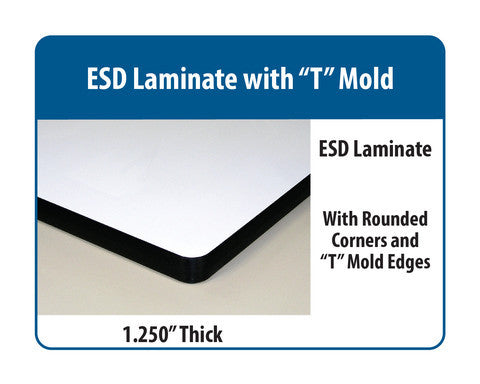 "Ergo-Line Heavy Duty ESD Laminate ""T"" Mold"