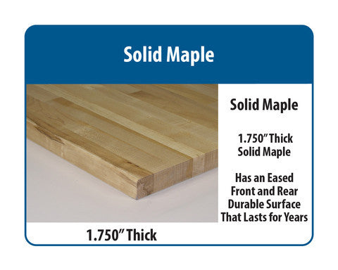 "Complete Pack Bench with 1.75"" Solid Maple Surface"