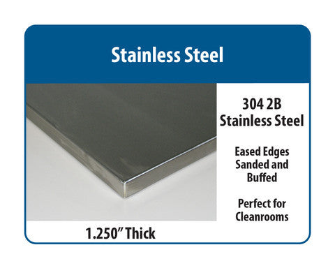 "Complete Pack Bench with 1.25"" Stainless Steel Surface"