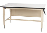 Ergo-Line HD Height Adjust Base Bench with Plastic Laminate Rolled Front Edge Surface