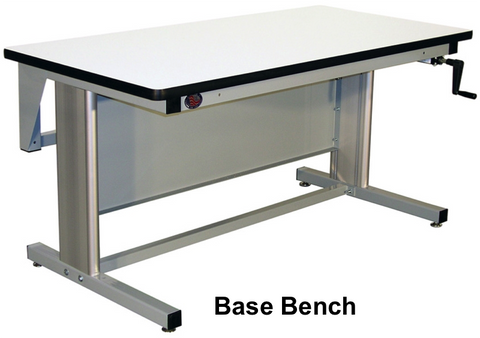 "Ergo-Line Base Bench with 1.75"" Solid Maple Surface"