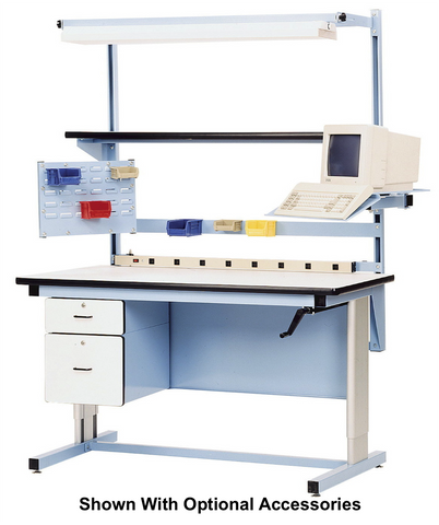 Ergo-Line Base Bench with Plastic Laminate 90 Degree Rolled Front Edge Surface