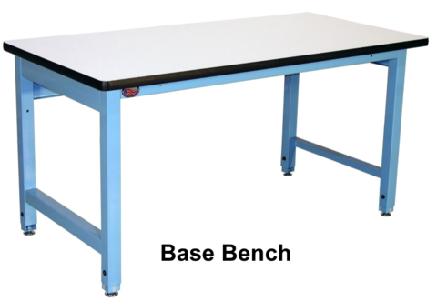 "Model HD Base Bench with 1.25"" Chem-Guard Laminate Surface"
