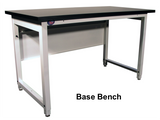"Lab HD Base Bench with 1"" Black Epoxy Resin Surface"