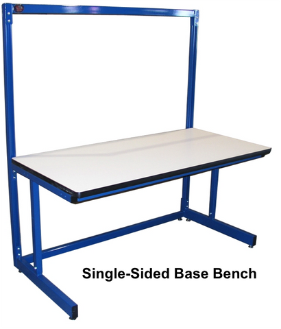 "Basics Base Bench with 1"" Black Epoxy Resin Surface"