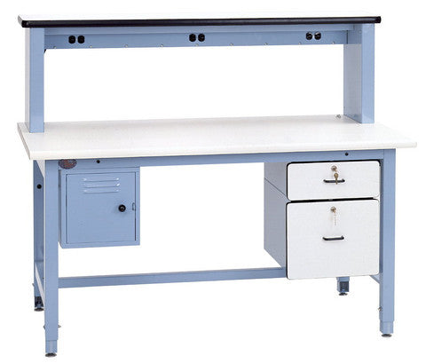 Technical Workbench Base Bench with Plastic Laminate Surface