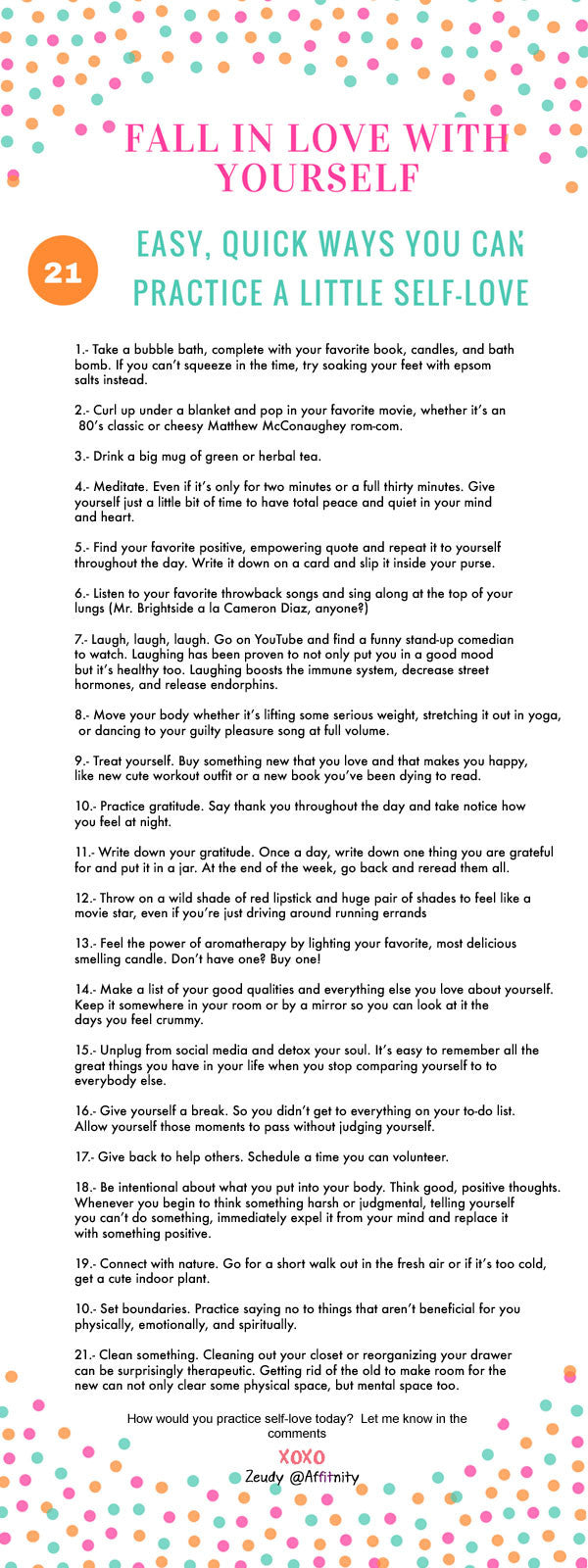 fall in love yourself self love 21 ways to practice self love
