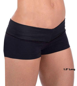 Black Mini Gym Shorts