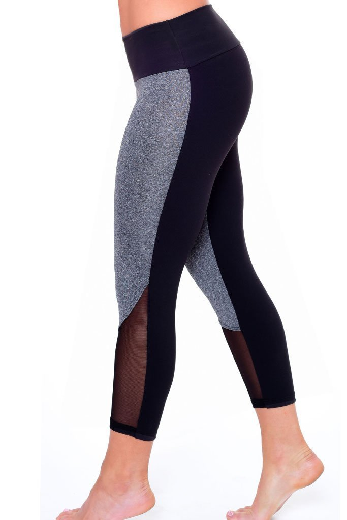 Workout Mesh Heather Leggings