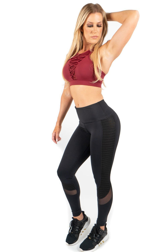 Black Motto Leggings-2